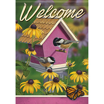 Carson Home Accents Flagtrends Chickadee House Garden Flag