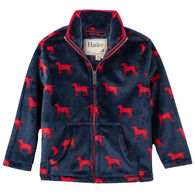 Hatley Boys' Red Labs Fuzzy Fleece Zip Up Jacket