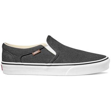 Vans Mens Asher Enzyme Wash Canvas Slip-On Sneaker