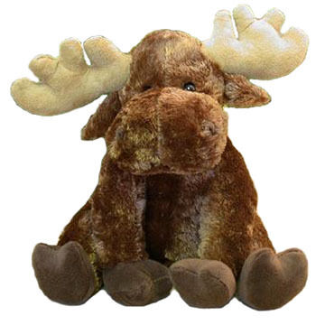 Wishpets Stuffed Sitting Moose