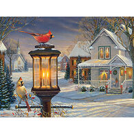 White Mountain Jigsaw Puzzle - Cardinals In Winter