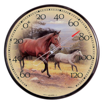 """AcuRite 12.5"""" Galloping Horses Thermometer"""