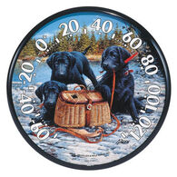 """AcuRite 12.5"""" Lab Puppies & Basket Thermometer"""