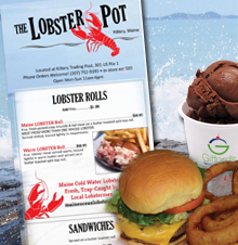 Lobster Pot Menu 2018