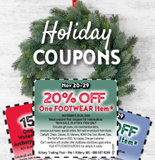 Holiday Coupons Sign Up!