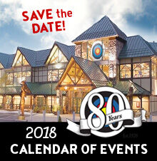 2018 Calendar of Events