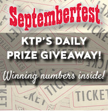 Winning Ticket Numbers for Prizes at SEPTEMBERFEST® 2021!