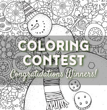 Snowman Coloring Contest Winners