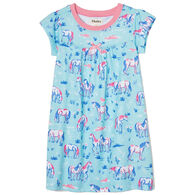 Hatley Girl's Painted Pasture Short-Sleeve Nightdress