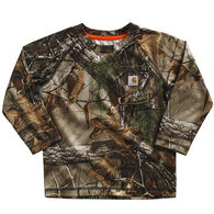 Carhartt Infant/Toddler Boy's Camo Raglan Long-Sleeve Shirt