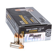 SIG Sauer Elite V-Crown 9mm 115 Grain JHP Handgun Ammo (50)
