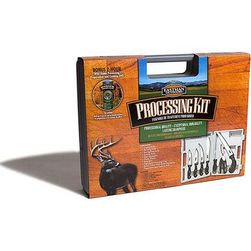 Eastman Outdoors 7-Piece Wild Game Processing Kit w/ Case & Bonus DVD