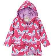 Hatley Girl's Decorative Butterflies Raincoat