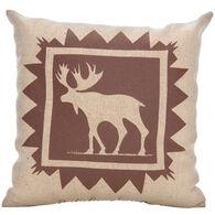 """Maine Balsam Fir 7"""" x 7"""" Indian Plain Moose Balsam Pillow"""