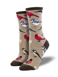 Socksmith Design Women's Bird is the Word Crew Sock