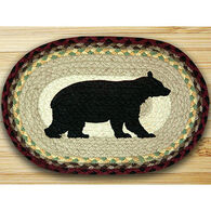 Capitol Earth Cabin Bear Printed Oval Swatch Rug