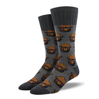 Socksmith Design Men's Outlands Smokey Bear Crew Sock