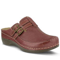 Spring Step Women's Happy Two Buckle Leather Clog