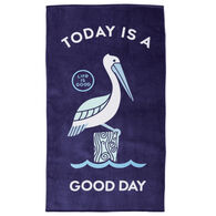 Life is Good Good Day Pelican Beach Towel