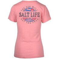 Salt Life Women's Set You Free Tri-blend V-Neck Short-Sleeve T-Shirt