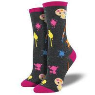Socksmith Design Women's Painter's Palette Crew Sock