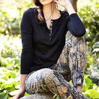 Wilderness Dreams Women's Mossy Oak Henley Sleep Shirt