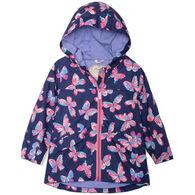 Hatley Toddler Girl's Butterfly Kaleidoscope Microfiber Rain Jacket