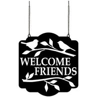 Carson Home Accents Welcome Friends Metal Garden Flag