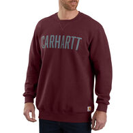 Carhartt Men's Block Logo Crewneck Sweatshirt