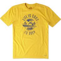 Life is Good Men's Watercolor Go Deep Crusher Short-Sleeve T-Shirt