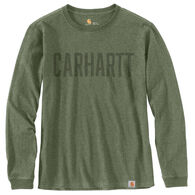 Carhartt Men's Big & Tall Workwear Block Logo Graphic Long-Sleeve T-Shirt