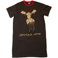 Lazy One Women's Chocolate Moose Nightshirt