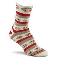 Fox River Mills Women's Monkey Stripe Lightweight Crew Sock