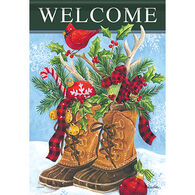 Carson Home Accents Christmas Boots Garden Flag