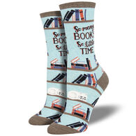 Socksmith Design Women's Time for A Good Book Crew Sock