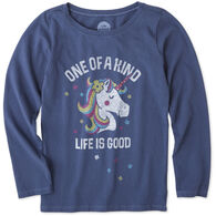 Life is Good Girls' One of A Kind Long-Sleeve Crusher T-Shirt