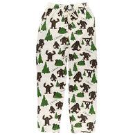 Lazy One Men's I Believe Bigfoot Pajama Pant