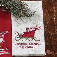 Park Designs Dashing Through The Snow Printed Dish Towel
