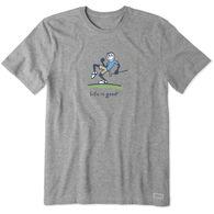 Life is Good Men's Pump Putt Jake Vintage Crusher Short-Sleeve T-Shirt