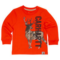 Carhartt Infant/Toddler Boy's Deer Camo Long-Sleeve T-Shirt