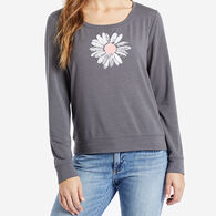 Life is Good Women's Daisy Supreme Scoop Pullover Long-Sleeve Top