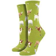 Socksmith Design Women's Billy Goat Crew Sock