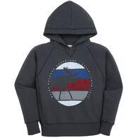 Lakeshirts Youth Blue 84 Koolio Moose Hooded Sweatshirt