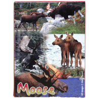 Maine Scene Moose Collage Playing Cards