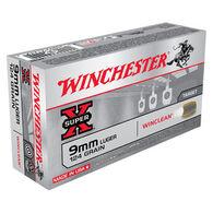 Winchester Super-X 9mm Luger 124 Grain WinClean Brass Enclosed Base Handgun Ammo (50)