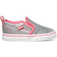 Vans Toddler Girls' Asher V Iridescent Slip-On Shoe