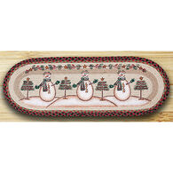 Capitol Earth Moon & Star Snowman Oval Patch Runner Braided Rug