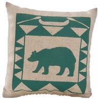 """Maine Balsam Fir 4"""" x 4"""" Indian Canoe Bear Balsam Pillow"""