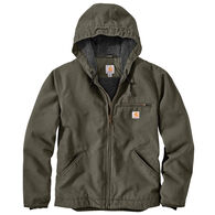Carhartt Men's Washed Duck Sherpa-Lined Hooded Jacket