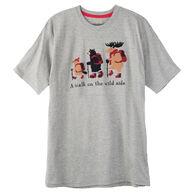 Hatley Little Blue House Men's A Walk On The Wild Side Short-Sleeve Sleep T-Shirt